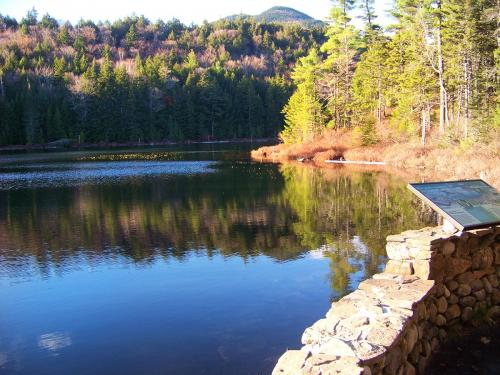 Falls Pond behind Rocky Gorge Scenic Area on the Kancamagus
